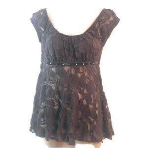 Wet Seal plumb lace baby doll blouse